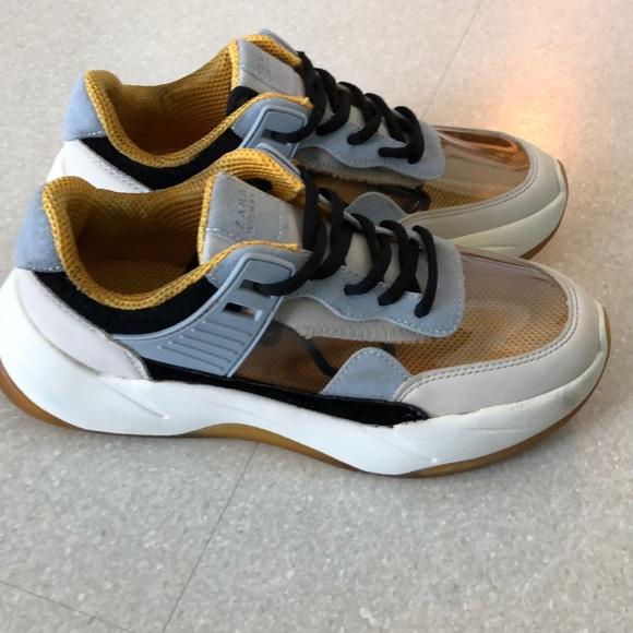 Zara Transparent Dad Sneaker 36